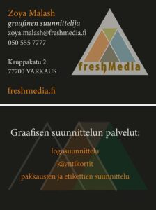 Käyntikortti: Svetlana Koskinen 19B (Koulutehtävät)